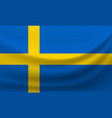 waving national flag of sweden vector image vector image