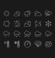 weather simple white line icons set vector image