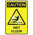 Wet floor hazard Sign vector image