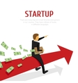 Businessman on the arrow chart vector image