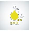 olive oil background vector image