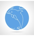 Round icon for dolphin vector image