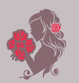 girl with a bouquet vector image