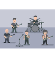 Music band flat graphic vector image