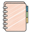 office notebook with tabs vector image