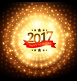 2017 golden party background with glowing effect vector image vector image