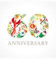 60 anniversary folk logo vector image vector image