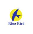 a blue bird vector image vector image