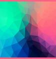 abstract irregular polygonal neon background vector image vector image