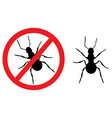 Ant sign symbol vector image vector image