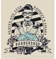 barbershop vintage monochrome badge vector image vector image