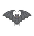 bat filled outline icon halloween and scary vector image vector image