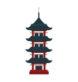 Beautiful china travel landmarks chinese temple vector image