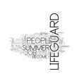 become a summer lifeguard text word cloud concept vector image vector image