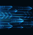 blue arrow abstract technology background vector image vector image