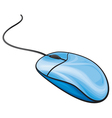 blue computer mouse vector image vector image