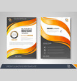 brochure template vector image vector image