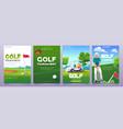 cartoon golf tournament posters vector image