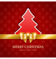 Christmas tree applique and gold bow vector image vector image
