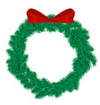 christmas wreath xmas winter vector image