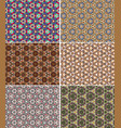color kaleidoscope backgrounds set vector image