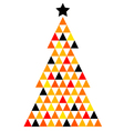 Colorful Xmas Mosaic Tree isolated on white vector image vector image