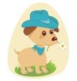 Cowboy Puppy vector image