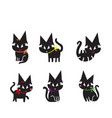 cute black cat pattern vector image vector image