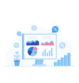 data analysis design concept analysts working vector image vector image