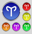 Decorative Zodiac Aries icon sign Round symbol on vector image
