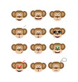 emotions monkey set vector image