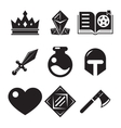Fantasy game icons vector image vector image