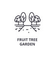 fruit tree garden line icon outline sign linear vector image vector image