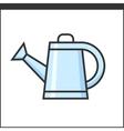 Garden watering pot icon vector image vector image