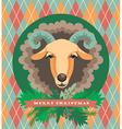 goat and sheep symbol 2015 vector image vector image