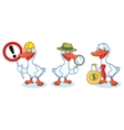 Goose Mascot with sign vector image vector image