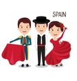 group spain music dance design vector image vector image