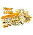 Happy Lohri background for Punjabi festival vector image vector image