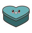 heart shape box cute kawaii cartoon vector image vector image