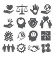 honesty and integrity icons on white background vector image vector image