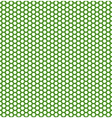honeycomb green pattern vector image