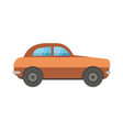 light brown passanger car or automobile vector image