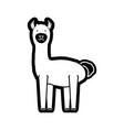 llama vector image vector image