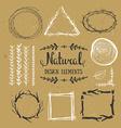 natural design elements forest frames vector image vector image