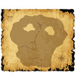 old pirate treasure map vector image