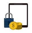 online money transfer vector image