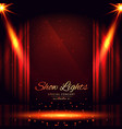 open red curtains theater background vector image vector image