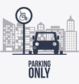 Park zone design vector image