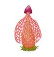 pink mushroom vector image vector image