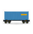 Platform with Blue Container Isolated on White vector image vector image